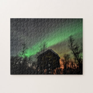 Northern Lights Over a Sami Goathi Puzzle