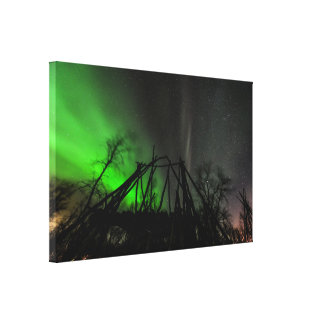 Northern Lights Over Abisko Sweden Canvas Print