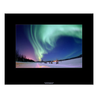 Northern Lights Over Bear Lake, Alaska Poster