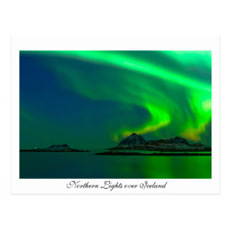 Northern Lights over Iceland Postcard