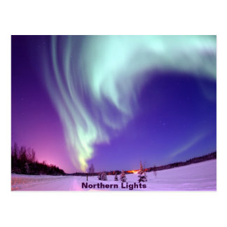 Northern Lights Shine in Alaskan Sky Postcard