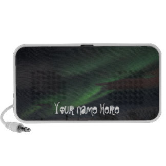 Northern Lights Show; Customizable Portable Speaker