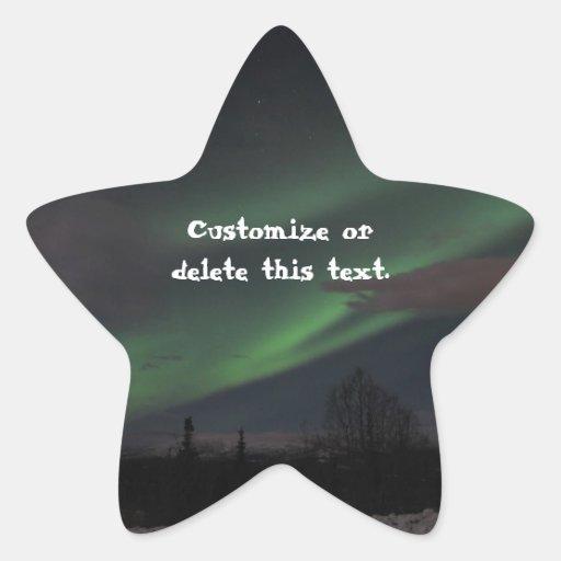 Northern Lights Show; Customizable Star Sticker