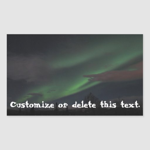 Northern Lights Show; Customizable Stickers