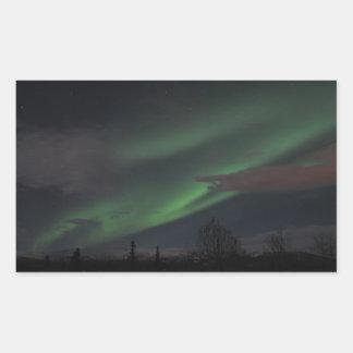 Northern Lights Show Rectangular Sticker