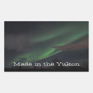 Northern Lights Show; Yukon Territory Souvenir Rectangular Sticker