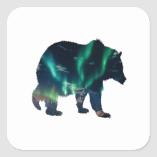 Northern Lights Square Sticker