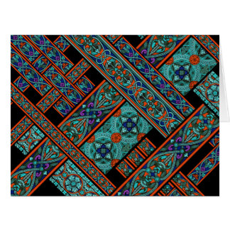 Northern Lights Stained Glass Big Greeting Card