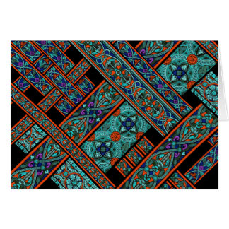 Northern Lights Stained Glass Greeting Card
