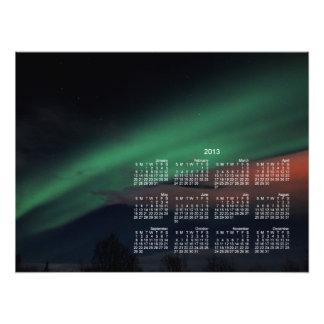 Northern Lights Starry Sky; 2013 Calendar Photo Print