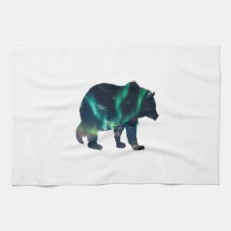 Northern Lights Tea Towel