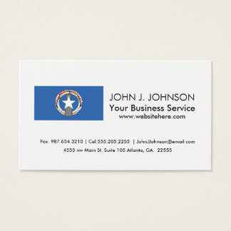 Northern Mariana Islands Flag Business Card