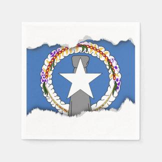 Northern Mariana Islands Flag Disposable Serviette