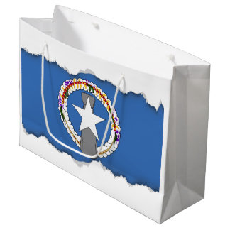 Northern Mariana Islands Flag Large Gift Bag