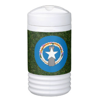 Northern Mariana Islands Flag on Grass Drinks Cooler