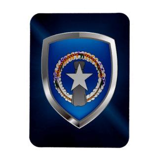 Northern Mariana Islands Metallic Emblem Magnet