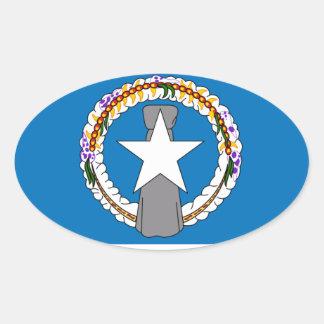 Northern Marianas Flag Oval Sticker