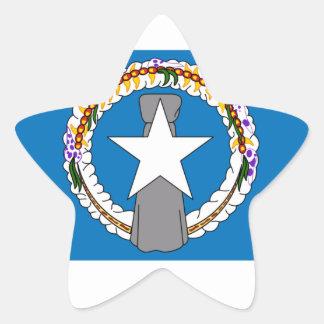 Northern Marianas Flag Star Sticker