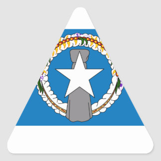 Northern Marianas Flag Triangle Sticker