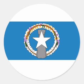 Northern Marianas Flag Round Sticker