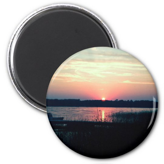 Northern Minnesota Sunset Magnet