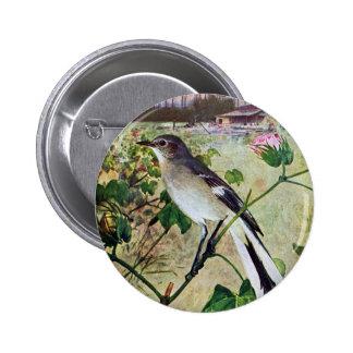 Northern Mockingbird Buttons