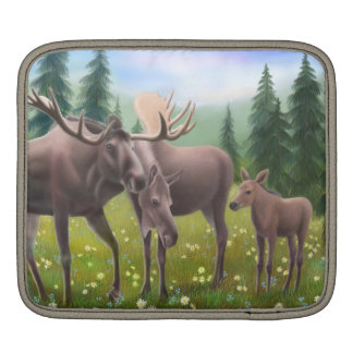 Northern Moose Family iPad Sleeve