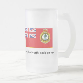 Northern Ontario Separation Frosted Glass Beer Mug