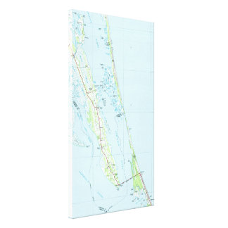 Northern Outer Banks North Carolina Map (1985) Canvas Print