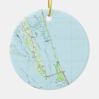 Northern Outer Banks North Carolina Map (1985) Ceramic Ornament