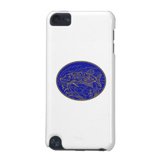 Northern Pike Fish Oval Mono Line iPod Touch 5G Cases