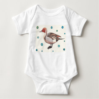 Northern Pintail Duck Baby Jersey Bodysuit