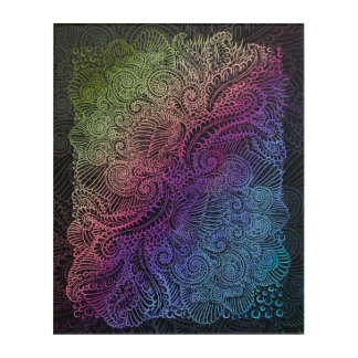 Northern Rainbow night Acrylic Print