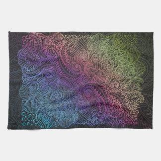 Northern Rainbow night Tea Towel