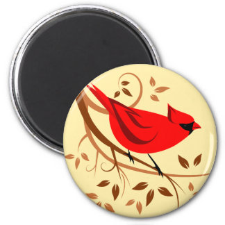 Northern Red Cardinal Magnets