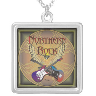 Northern Rock Square Pendant Necklace