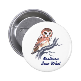 Northern Saw-Whet 6 Cm Round Badge