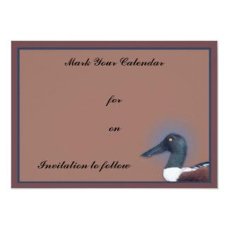 Northern Shoveler 13 Cm X 18 Cm Invitation Card