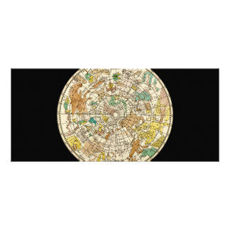 Northern Sky Star Chart and Constellations Map 10 Cm X 23 Cm Rack Card