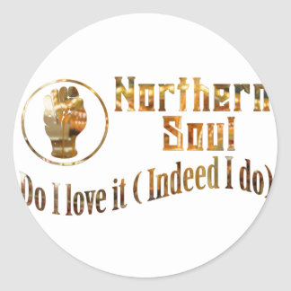 Northern Soul. Do I Love It - Gold Classic Round Sticker
