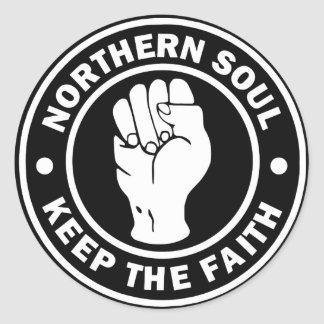 northern soul Logo  black Classic Round Sticker