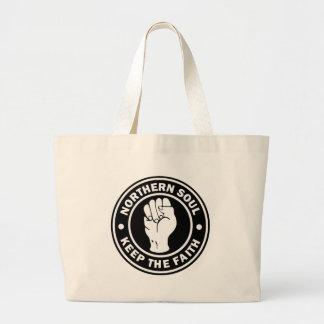northern soul Logo  black Large Tote Bag