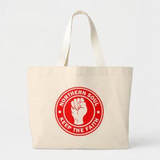 northern soul Logo Red Large Tote Bag