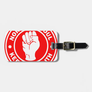 northern soul Logo Red Luggage Tag