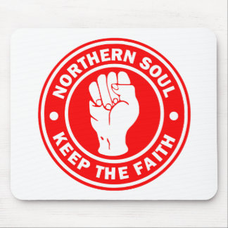 northern soul Logo Red Mouse Pad