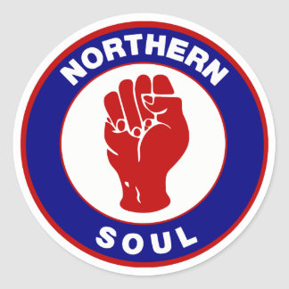 Northern Soul Mod target design Classic Round Sticker