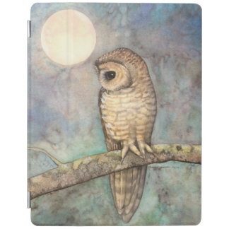 Northern Spotted Owl Wildlife Watercolor Art iPad Cover