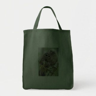 Northern Spotted Owl with Owlet Tote Bags
