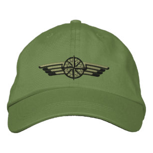 Northern Star Compass Pilot Wings Embroidered Hat
