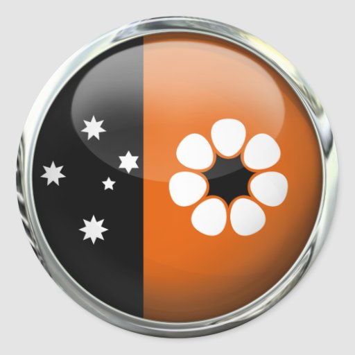 Northern Territory Flag Glass Ball Round Stickers